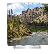 River In Shoshone Shower Curtain