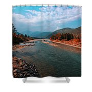 River In The Kingdom Of Happiness Shower Curtain