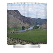 River In The Midst Shower Curtain