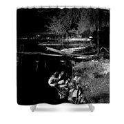 River In The Night... Shower Curtain