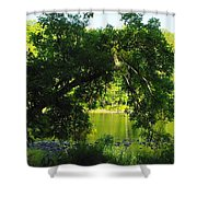 River In The Summer Shower Curtain