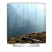 River In The Valley Iv Shower Curtain