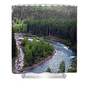 River In Valley G Shower Curtain