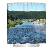 River In Yellowstone Shower Curtain