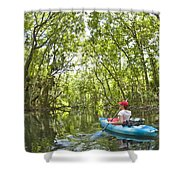 River Kayak Shower Curtain