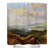 River Landscape Shower Curtain