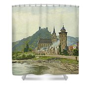 River Landscape Of The Rhine Shower Curtain