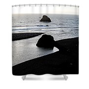 River Meets The Sea Shower Curtain