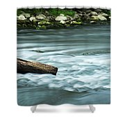 River Motion Shower Curtain