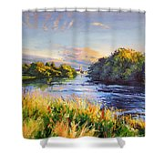 River Moy At Ballina Shower Curtain