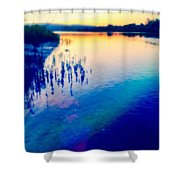 River Musing Shower Curtain
