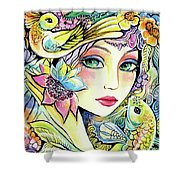 River Nymph Shower Curtain