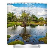 River Oasis Shower Curtain