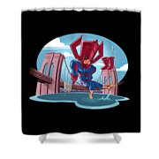 River, Ocean Shower Curtain