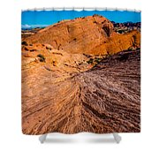 River Of Erosion Shower Curtain