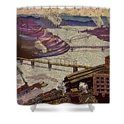 River Of Industry Shower Curtain