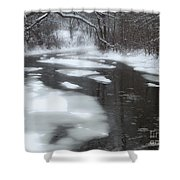 River Of Melting Ice Shower Curtain