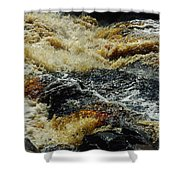River On The Rocks Shower Curtain