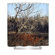 River Perch Shower Curtain