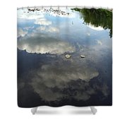 River Reflection Of Clouds Shower Curtain