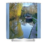 River Reflections  Shower Curtain by Gill Billington