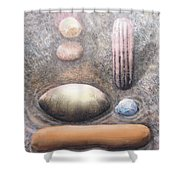 River Rock 1 Shower Curtain