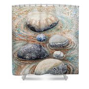 River Rock 2 Shower Curtain