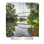 River Saale Bridge Near Dehlitz Shower Curtain