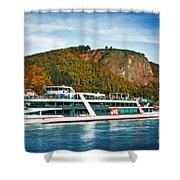 River Ship Shower Curtain