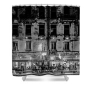 River Street Sweets Candy Store Black White  Shower Curtain