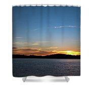 River Sun Set Shower Curtain