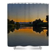 River Sunset Shower Curtain