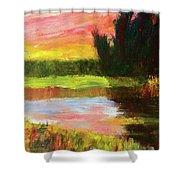River Sunset Shower Curtain