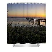 River Sunsrise - Florida Sunrise Scenic Shower Curtain