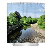River Swale, Grinton Shower Curtain