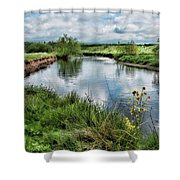 River Tame, Rspb Middleton, North Shower Curtain