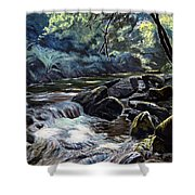 River Taw Sticklepath Shower Curtain