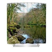 River Teign - P4a16010 Shower Curtain