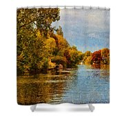 River Thames At Staines Shower Curtain