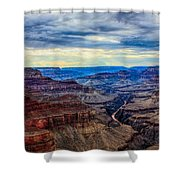 River Through The Canyon Shower Curtain