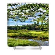 River Under The Maple Tree Shower Curtain