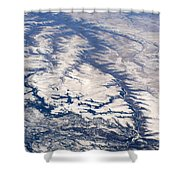 River Valley Aerial Shower Curtain