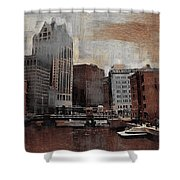 River View Aged Shower Curtain