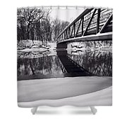 River View B And W Shower Curtain