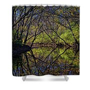River Walk Reflections Shower Curtain