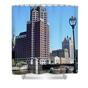River Walk View Photo Shower Curtain