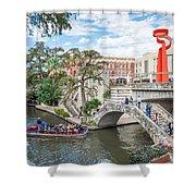 River Walk View San Antonio Shower Curtain