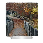 River Walkway Shower Curtain