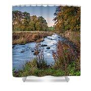 River Wansbeck At Wallington Shower Curtain