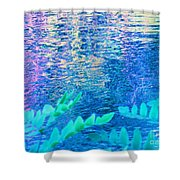 Distractions From The River Waters Shower Curtain